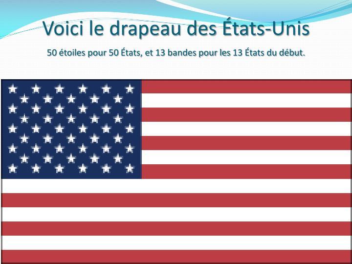Voici le drapeau des États-Unis