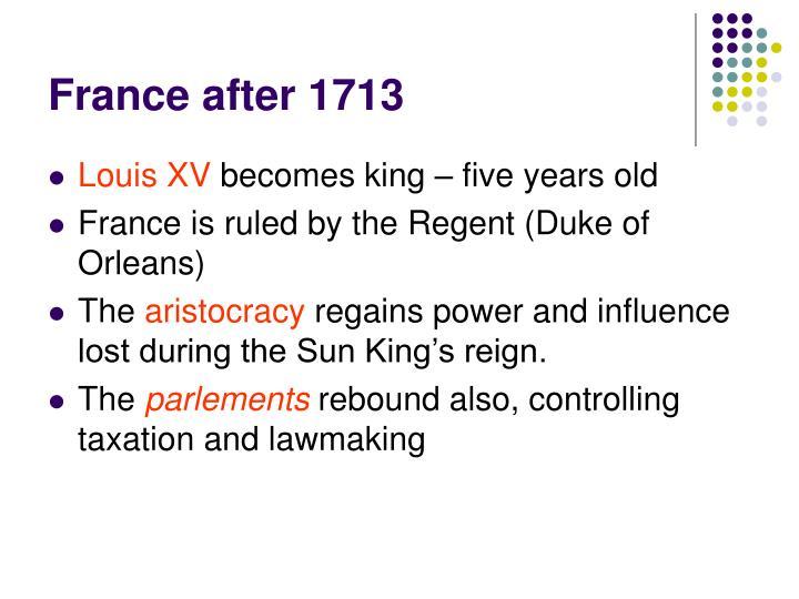 France after 1713
