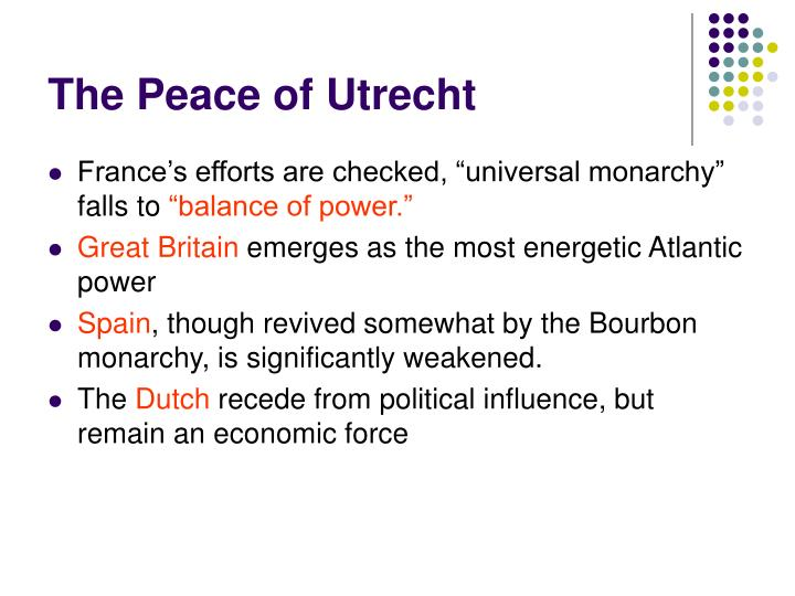 The peace of utrecht