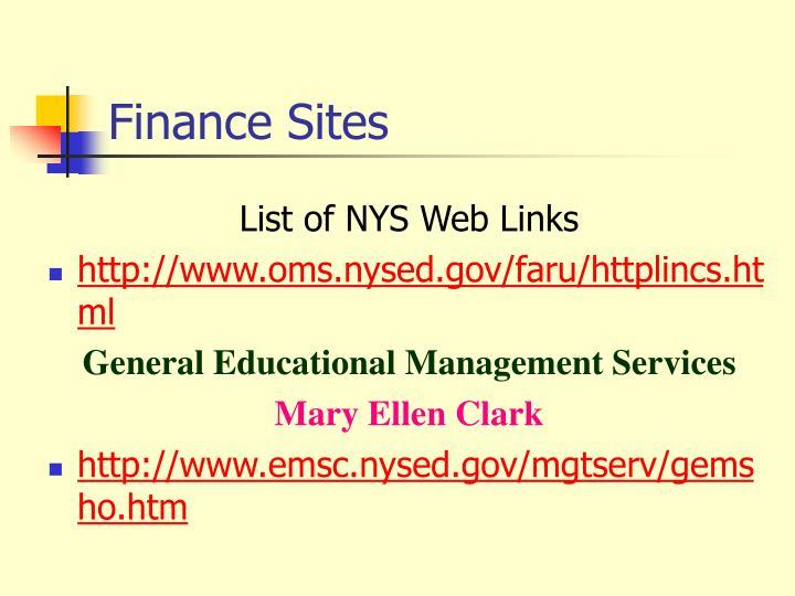 Finance Sites