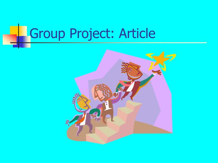 Group Project: Article
