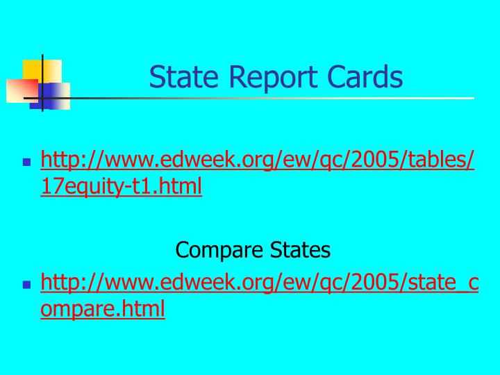 State Report Cards