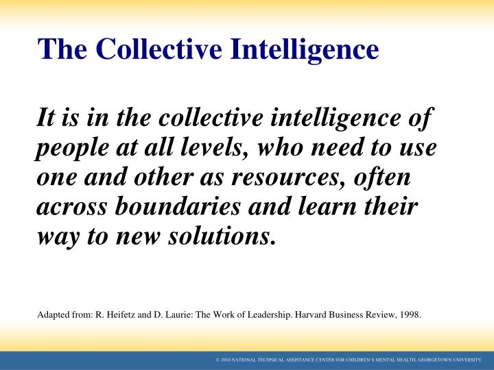 The Collective Intelligence