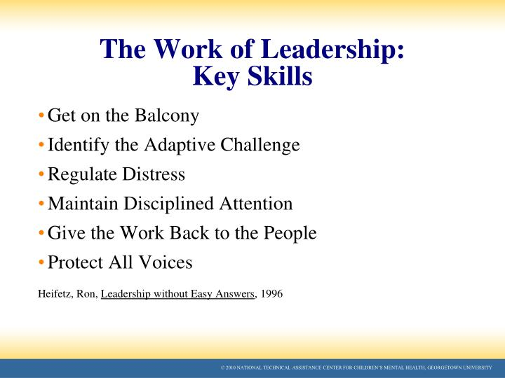 The Work of Leadership: