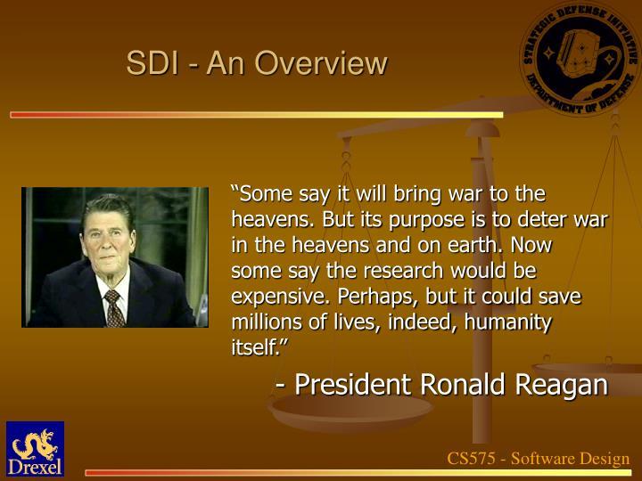SDI - An Overview
