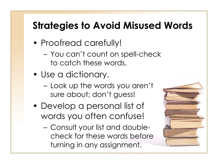 Strategies to Avoid Misused Words
