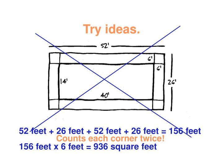 Try ideas.