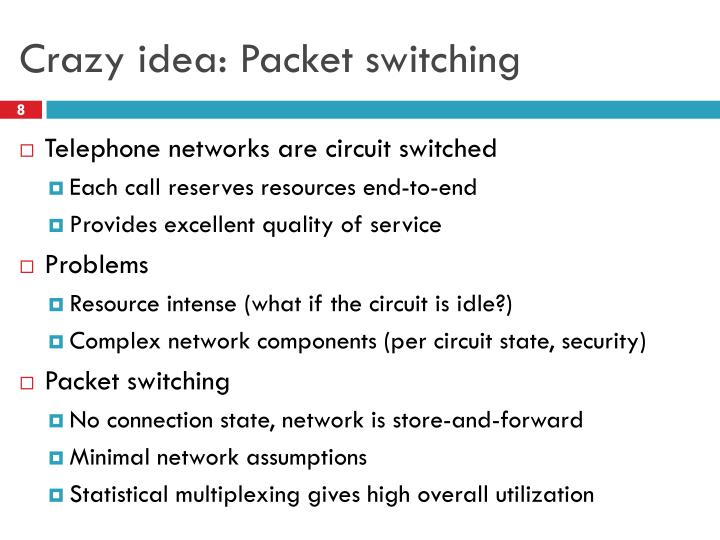 Crazy idea: Packet switching