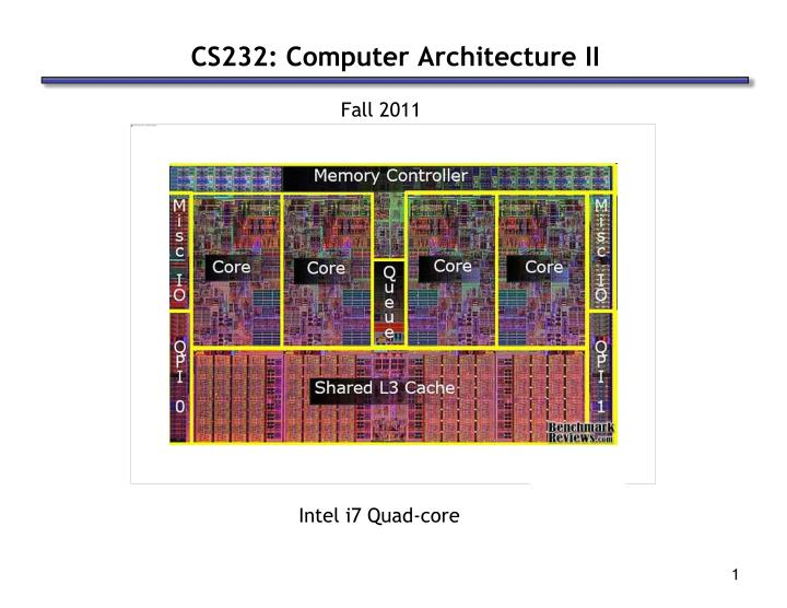 Cs232 computer architecture ii