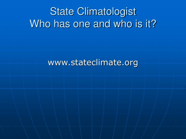 State Climatologist