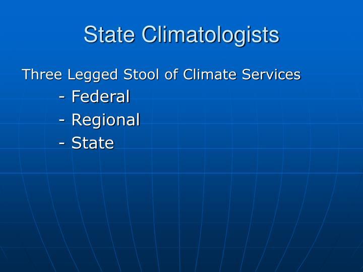 State Climatologists