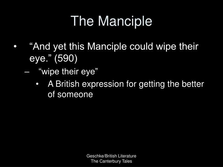 The Manciple