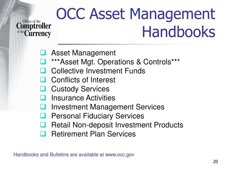 OCC Asset Management Handbooks