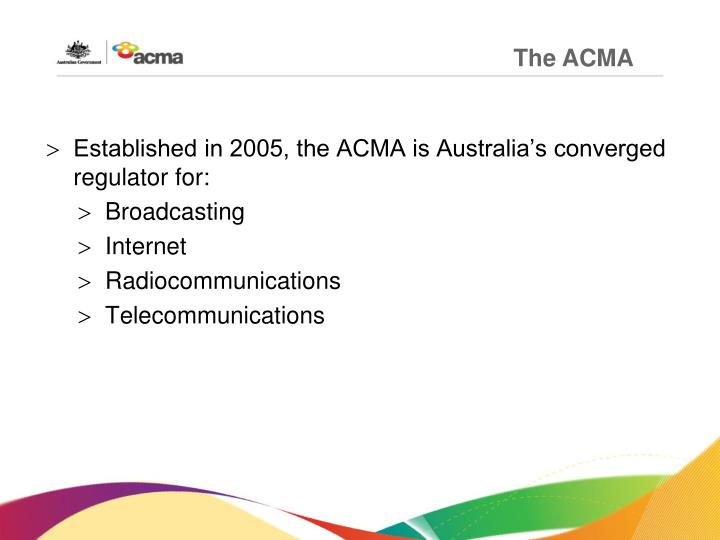 The ACMA