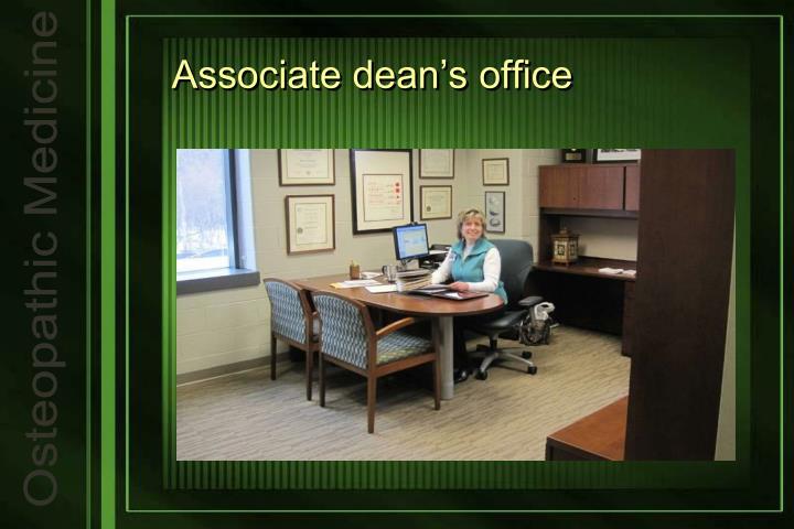 Associate dean's office