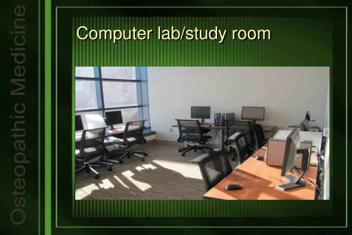 Computer lab/study room