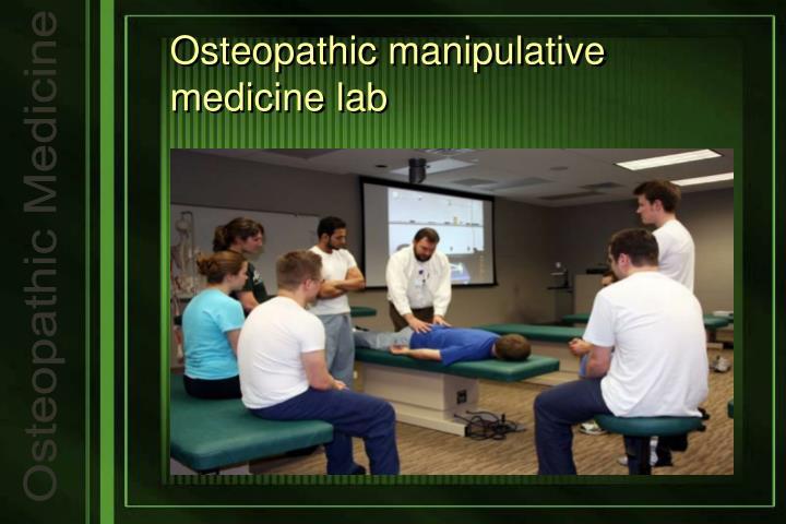 Osteopathic manipulative