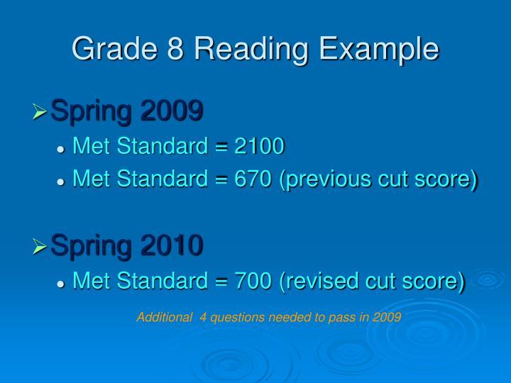 Grade 8 Reading Example
