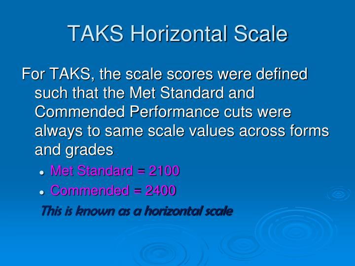 TAKS Horizontal Scale