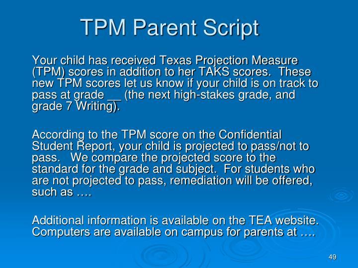 TPM Parent Script