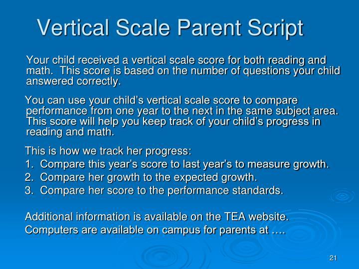 Vertical Scale Parent Script