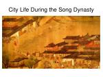 city life during the song dynasty