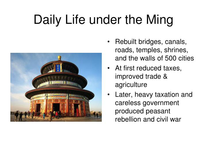 Daily Life under the Ming