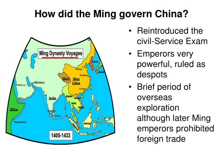 How did the Ming govern China?