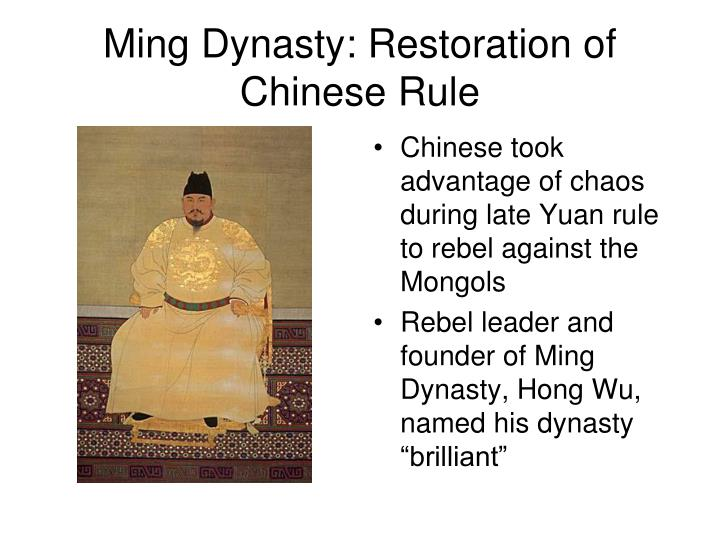 Ming Dynasty: Restoration of Chinese Rule