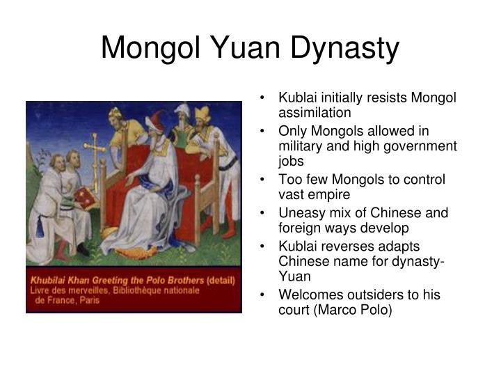 Mongol Yuan Dynasty