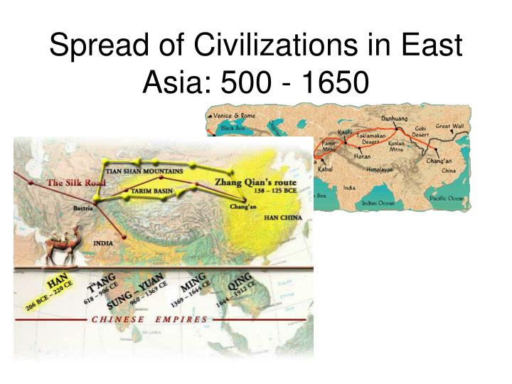 Spread of civilizations in east asia 500 1650