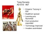 tang dynasty ad 618 907