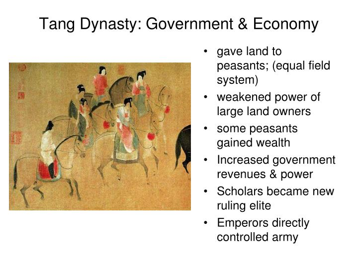 Tang Dynasty: Government & Economy