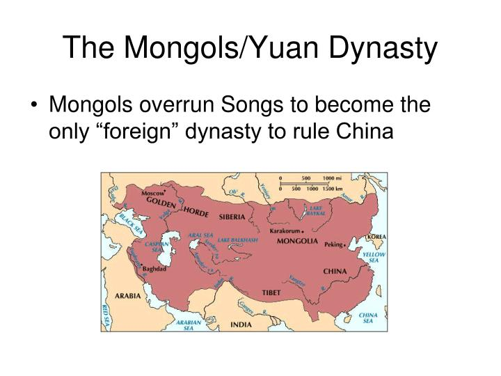 The Mongols/Yuan Dynasty
