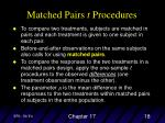 matched pairs t procedures