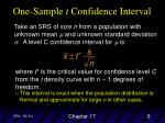 one sample t confidence interval