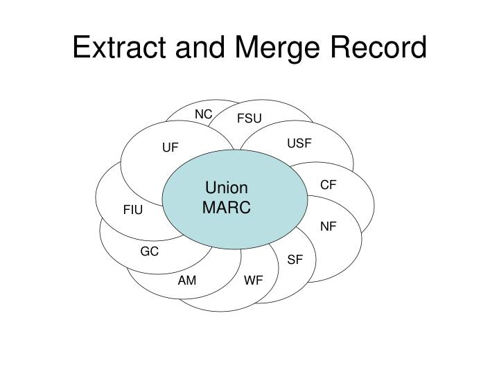 Extract and merge record
