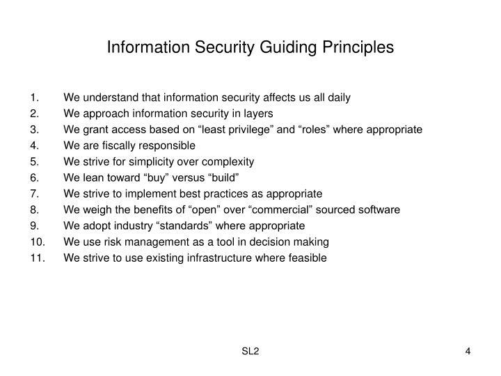 Information Security Guiding Principles