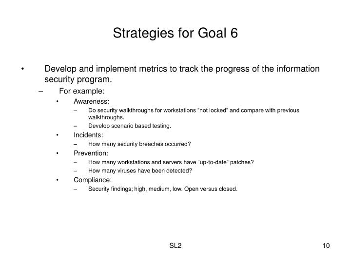 Strategies for Goal 6