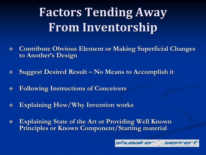 Factors Tending Away