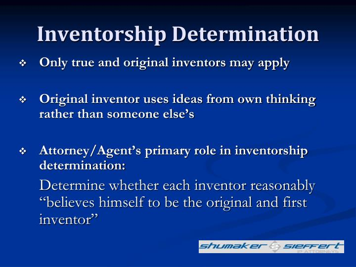 Inventorship Determination
