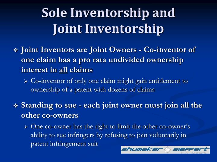 Sole Inventorship and