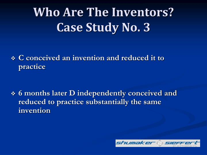 Who Are The Inventors?
