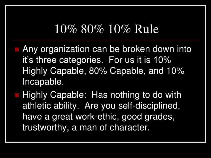 10% 80% 10% Rule