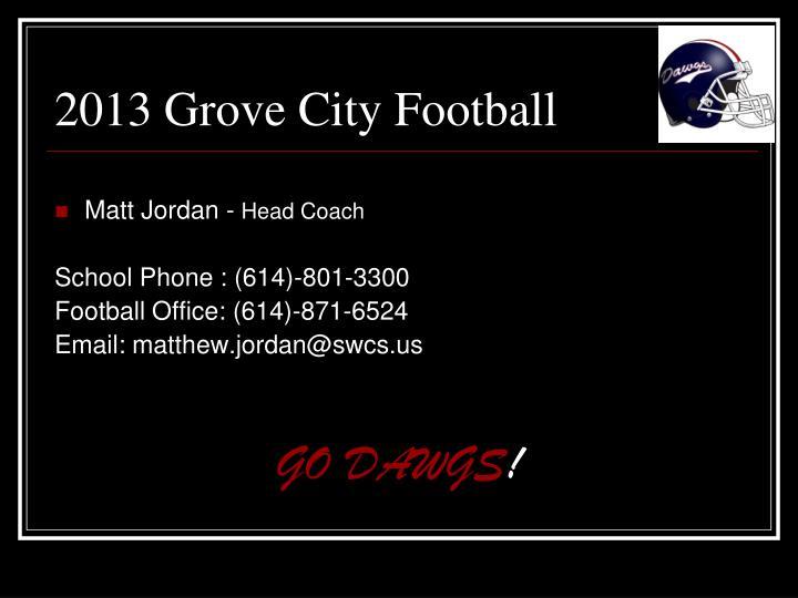 2013 Grove City Football