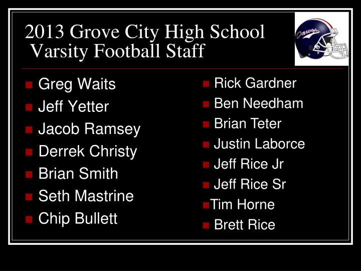 2013 Grove City High School