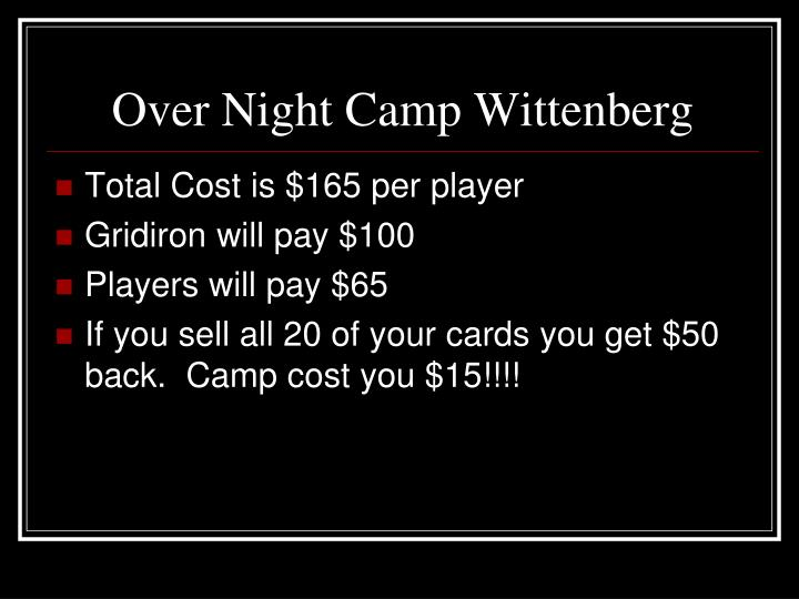 Over Night Camp Wittenberg