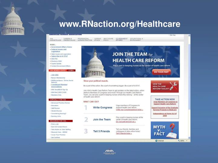www.RNaction.org/Healthcare