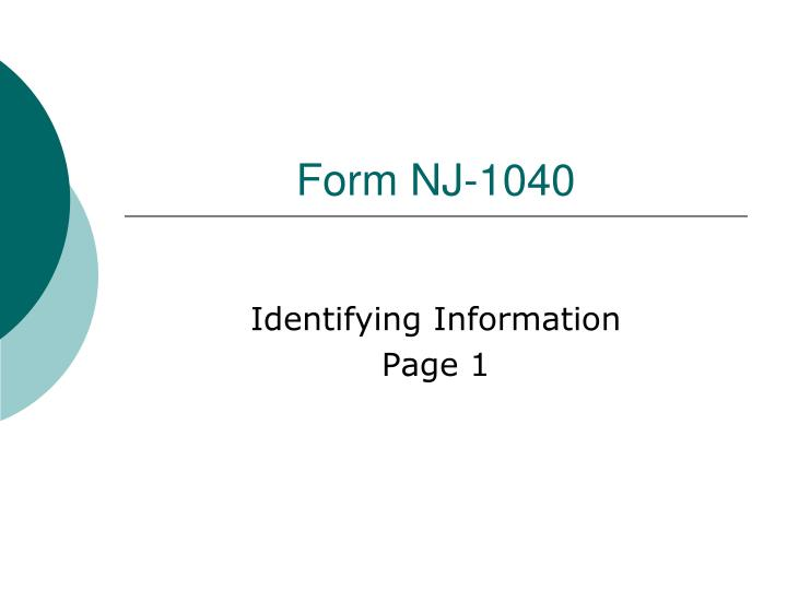 Form NJ-1040