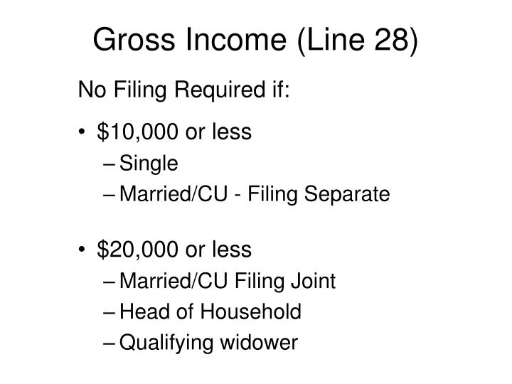 Gross Income (Line 28)